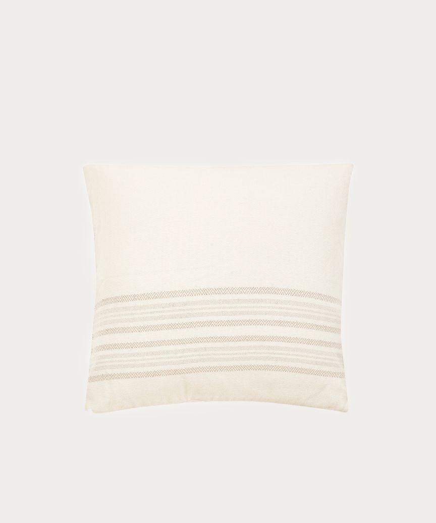 Striped Alpaca Pillow