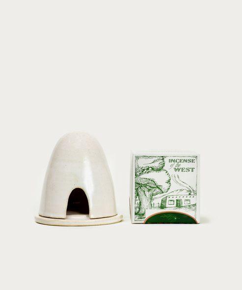 Ceramic Hive Burner & Cedar Incense
