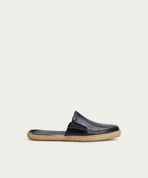 Leather Marina Espadrille Mule