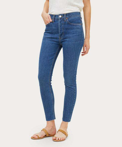 High Rise Ankle Crop Jean