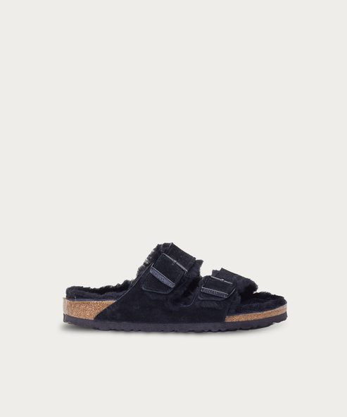Shearling-Lined Arizona Sandal