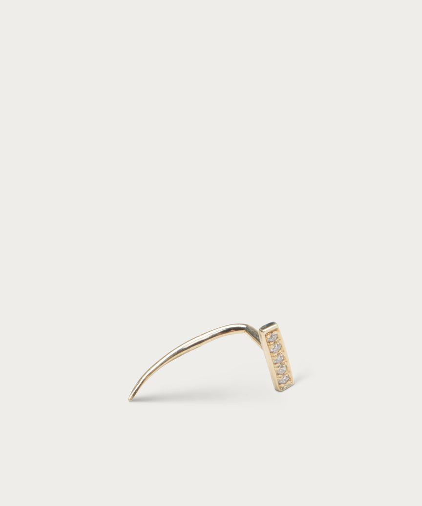bar infinite tusk pave diamond earring yellow gold jenni kayne Diamond Dangle Earrings bar infinite tusk pave diamond earring