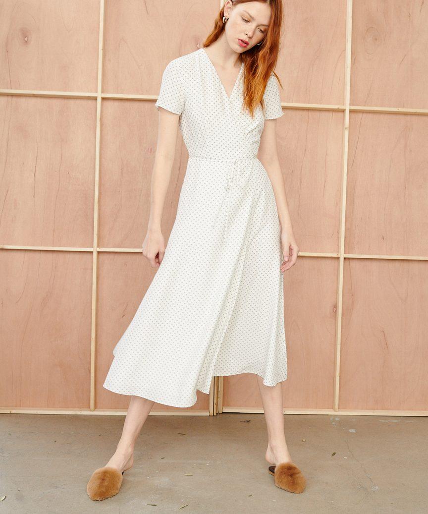 Ivory Wrap Dress