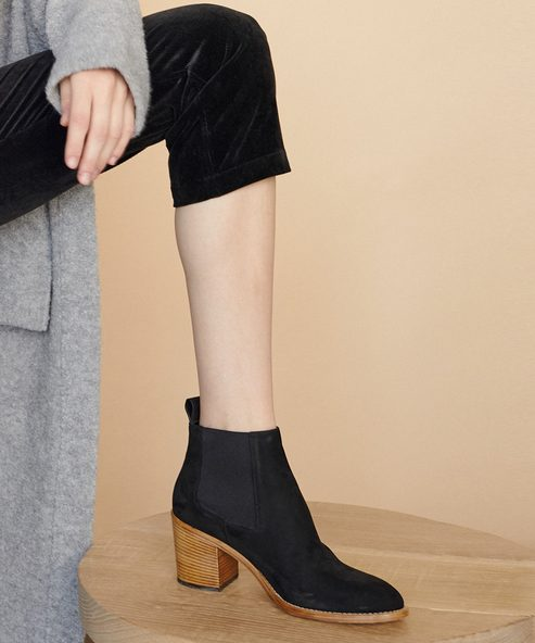 Oiled Leather Heeled Chelsea Boot