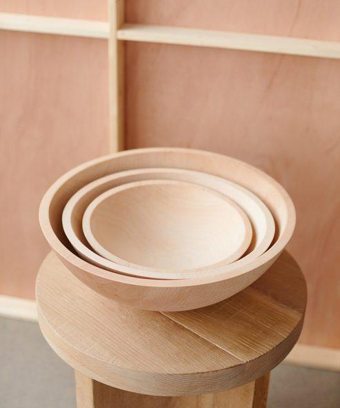 Large Maple Wood Bowl