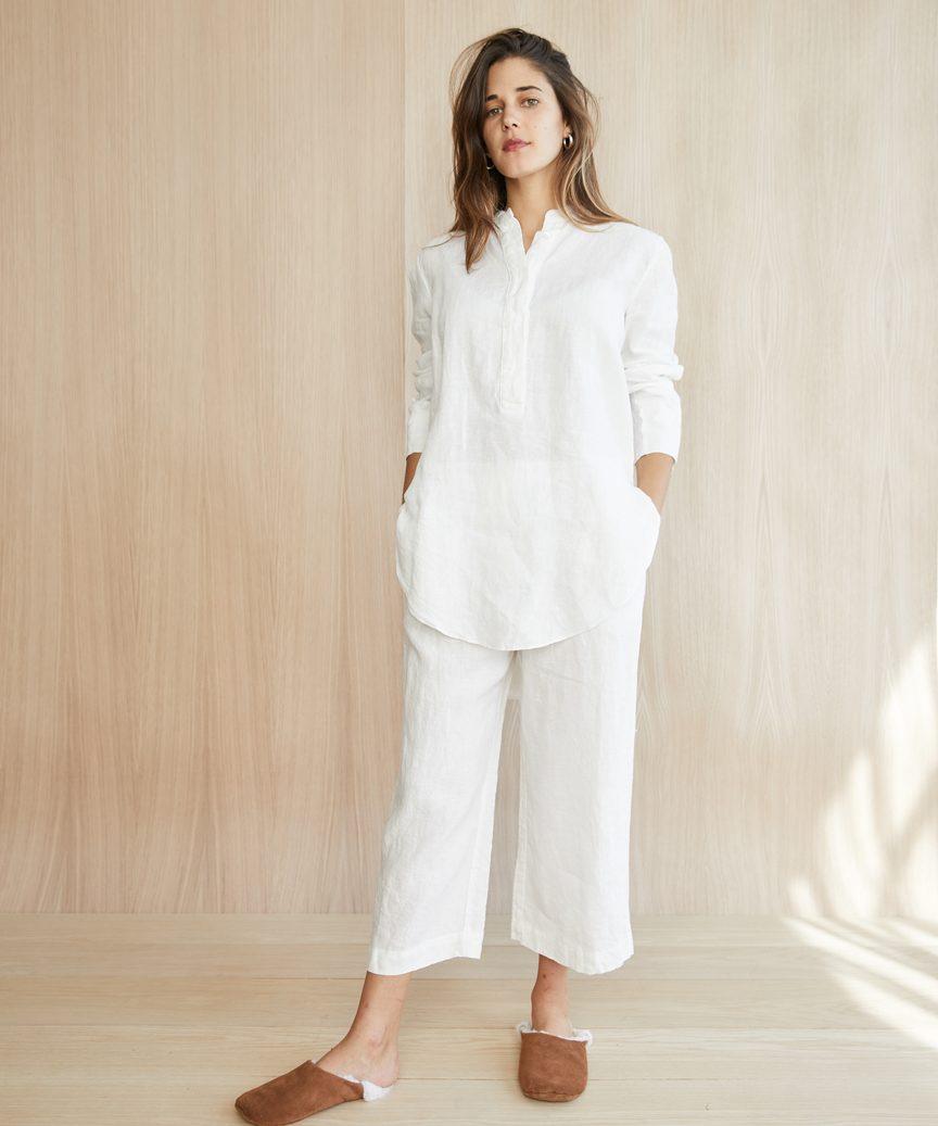 Linen Pajama Top