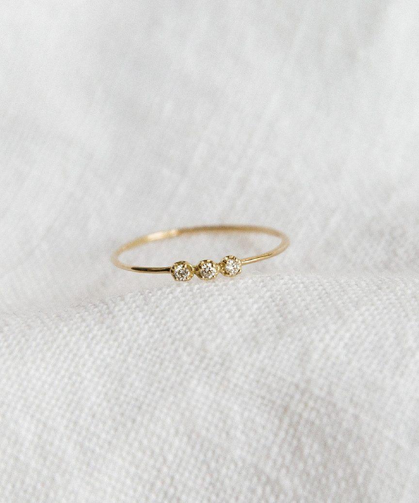 Orion White Diamond Ring