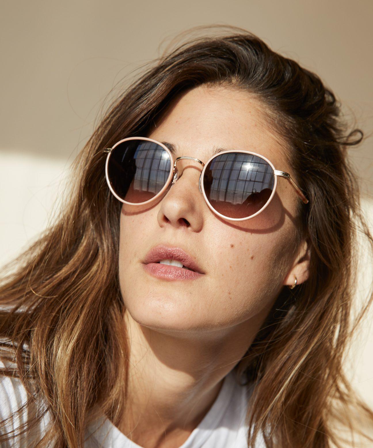 c757ea2bbe9a Wilson Sunglasses - Peach Tort/Desert Smoke | Jenni Kayne