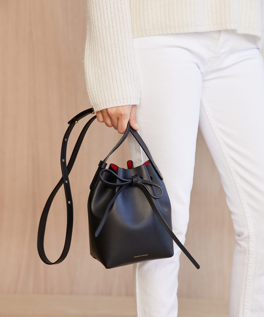 5f2e1df87743 Mini Mini Bucket Bag - Black | Jenni Kayne