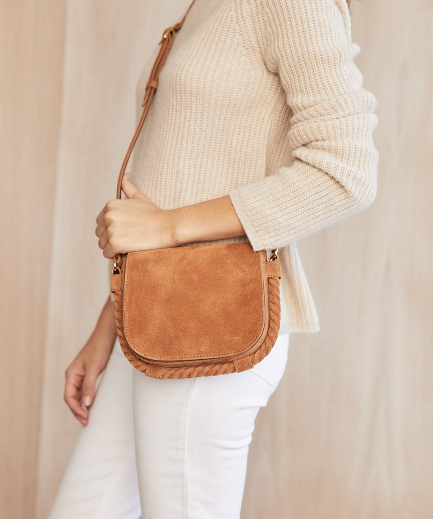 Small Suede Saddle Bag
