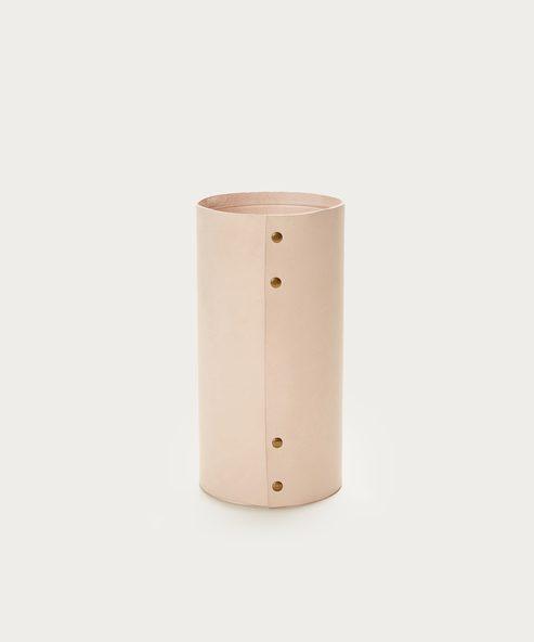 Medium Leather Rivet Vase