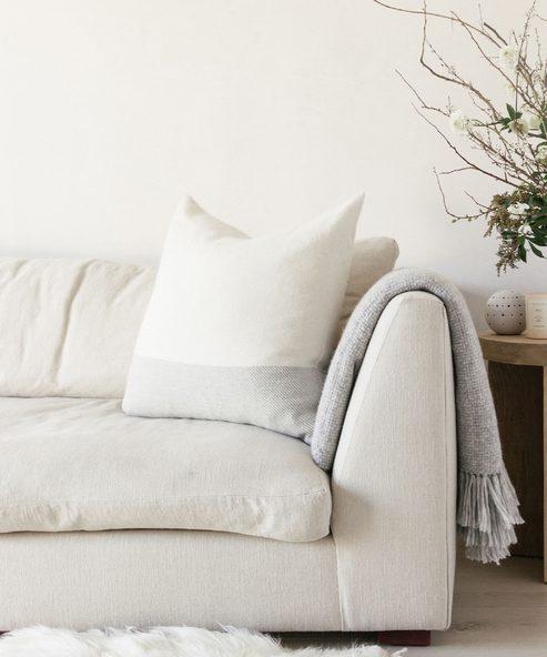 Colorblock Alpaca Pillow