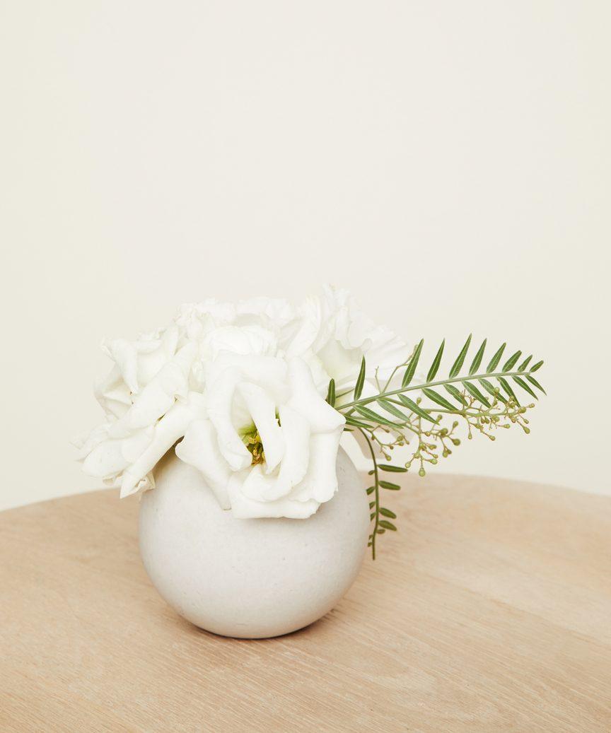 Round Ceramic Bud Vase