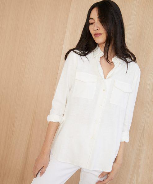 Cotton Flannel Safari Shirt