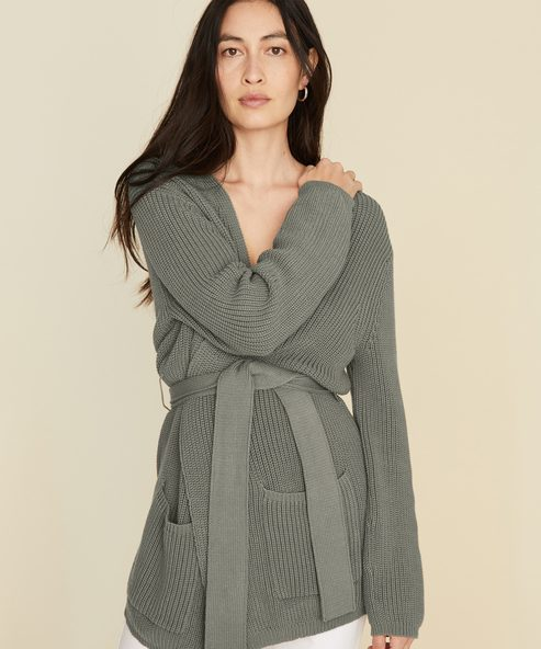Cotton Fisherman Wrap Cardigan