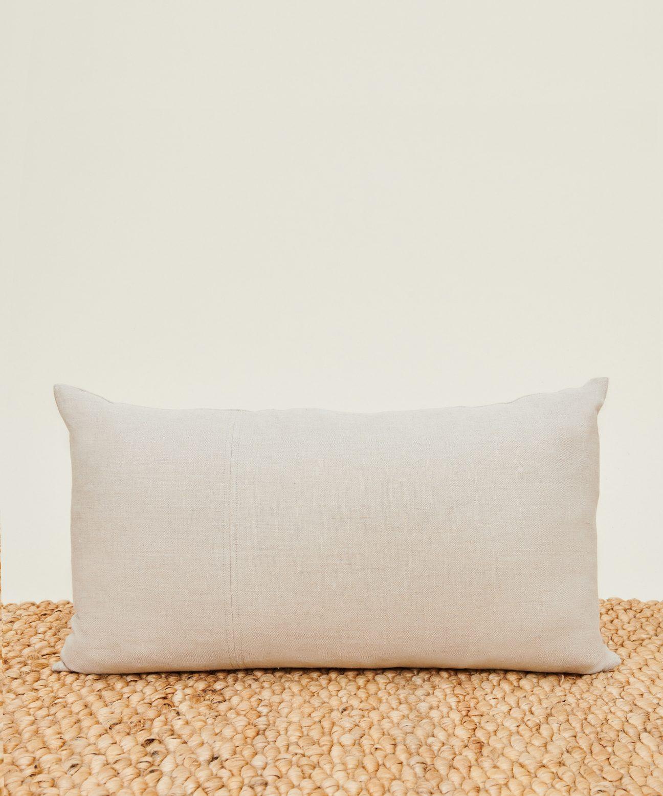 Linen Lumbar Pillow Natural Jenni Kayne