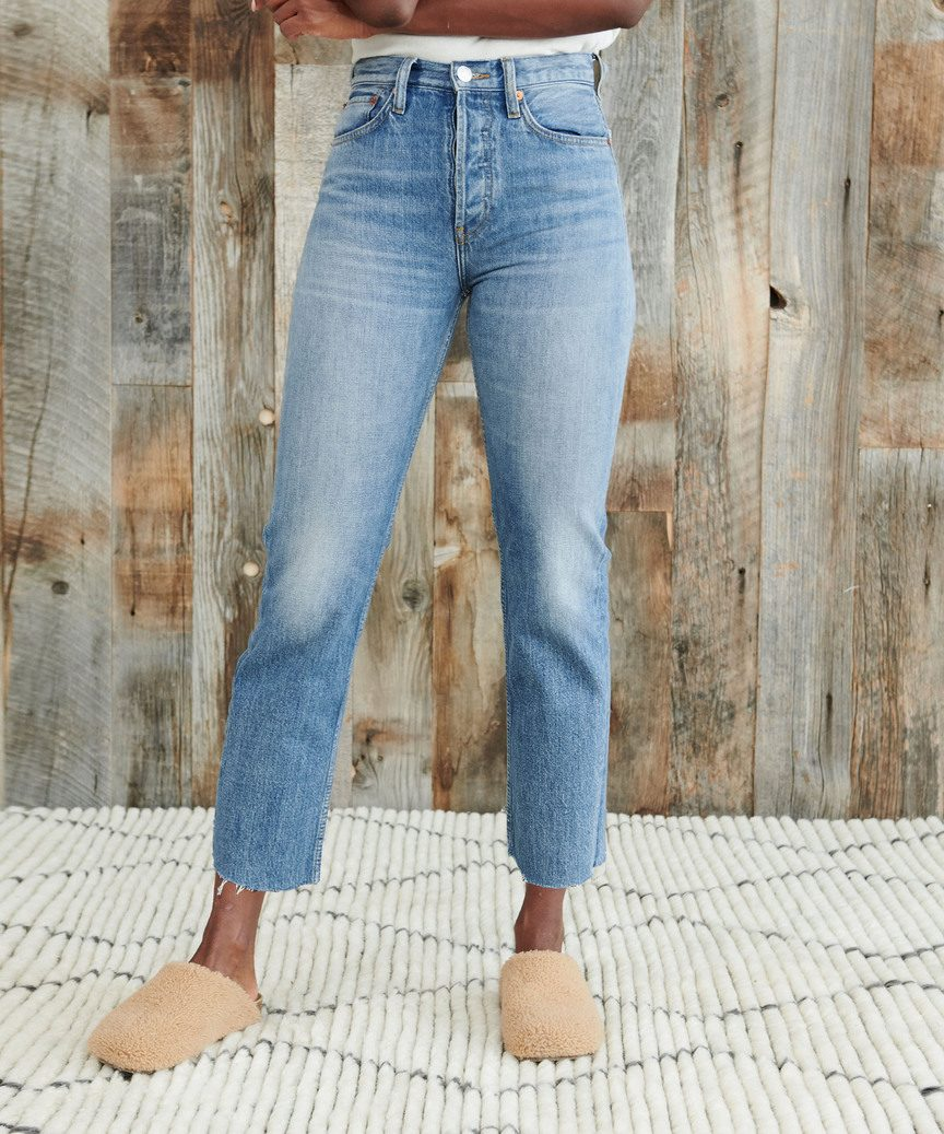 High Rise Stovepipe Jean by Re/Done