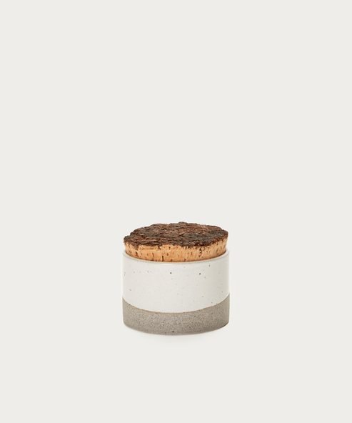 Wide Canister with Cork Top